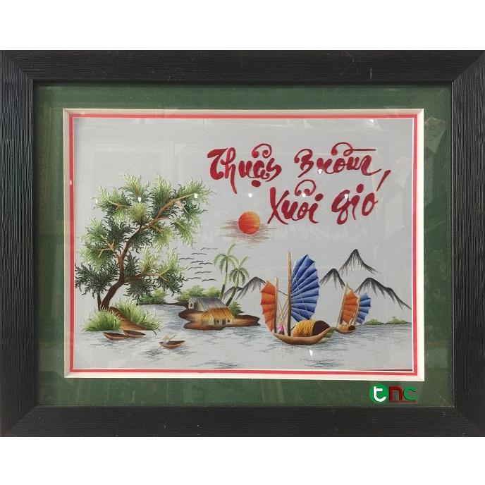 tranh thêu Thuận Buồm Xuôi Gió tnc1021