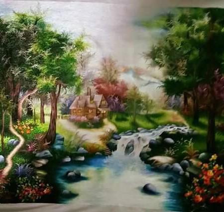 Tranh thêu Phong Cảnh tnc1212