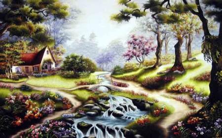 Tranh thêu Phong cảnh tnc1221