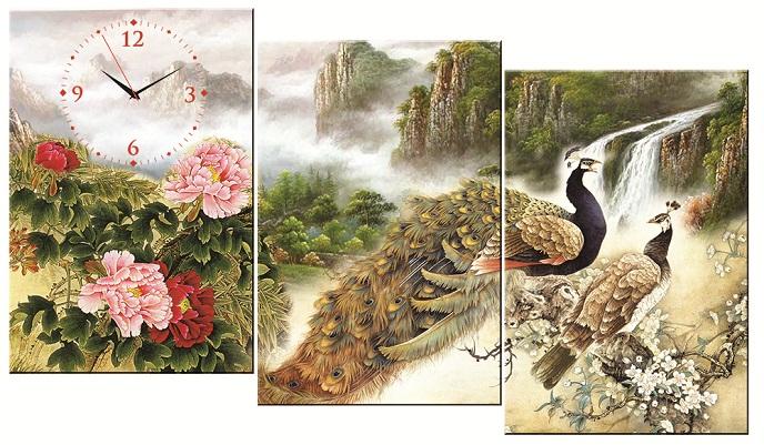 Tranh thêu Chim Công tnc016