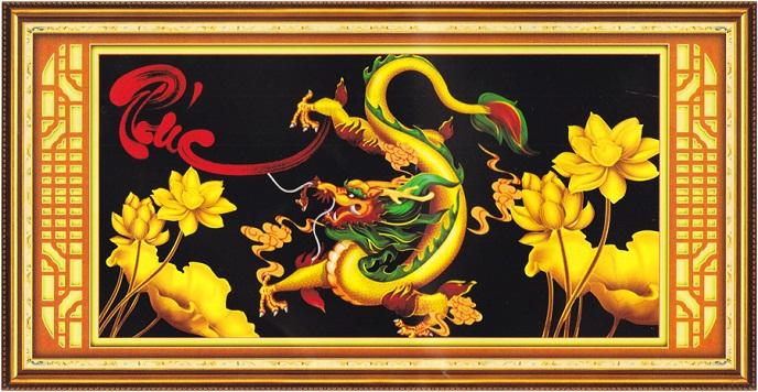 Tranh Thêu Con Rồng tnc07