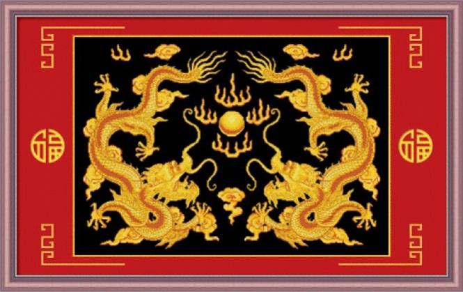 Tranh Thêu Con Rồng tnc06
