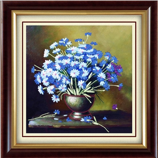 tranh thêu Hoa Cúc tnc09