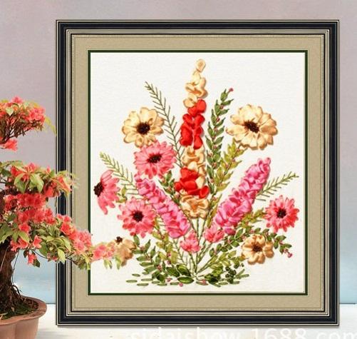 tranh thêu Hoa Cúc tnc08