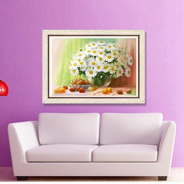 tranh thêu Hoa Cúc tnc01