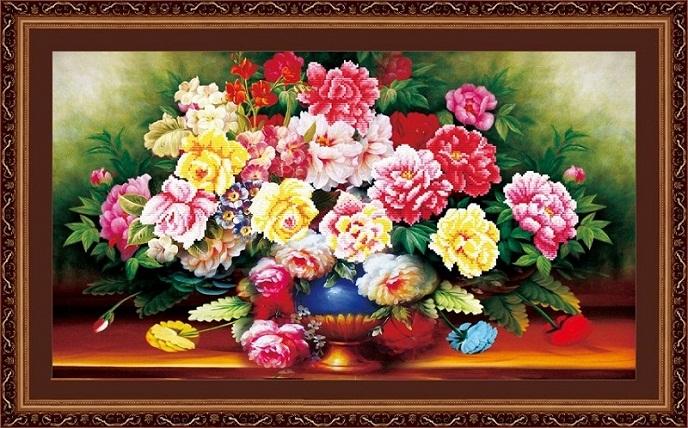 Tranh thêu Hoa Mẫu Đơn tnc010