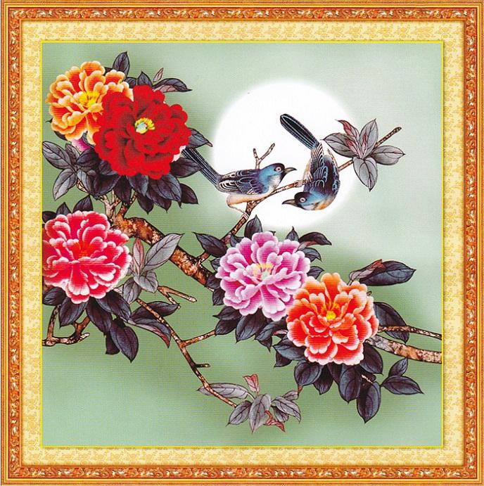 Tranh thêu Hoa Mẫu Đơn tnc011
