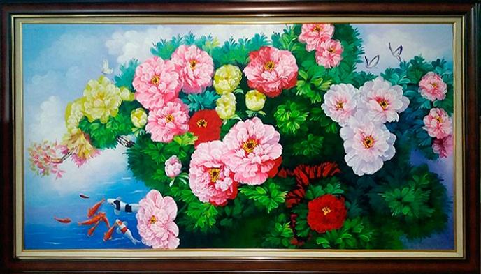 Tranh thêu Hoa Mẫu Đơn tnc07