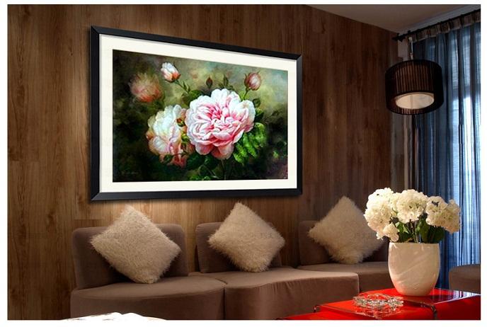 Tranh thêu Hoa Mẫu Đơn tnc01