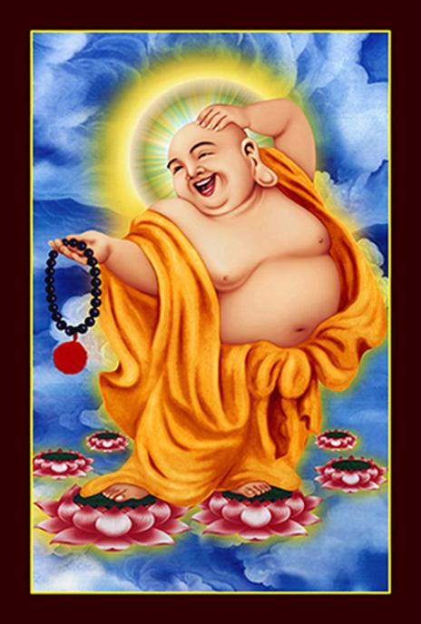 tranh thêu Phật Di Lặc tnc07