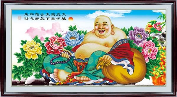 tranh thêu Phật Di Lặc tnc05