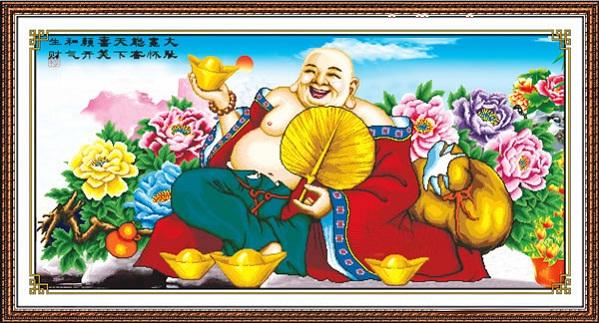 tranh thêu Phật Di Lặc tnc04