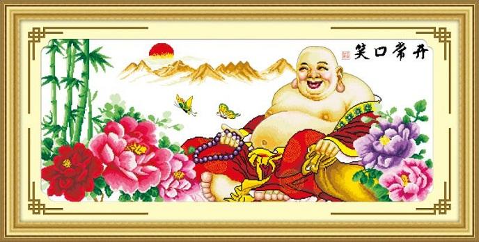 tranh thêu Phật Di Lặc tnc03