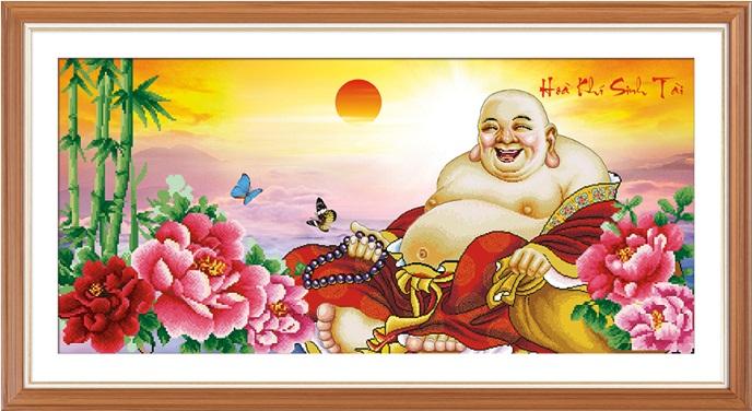 tranh thêu Phật Di Lặc tnc02