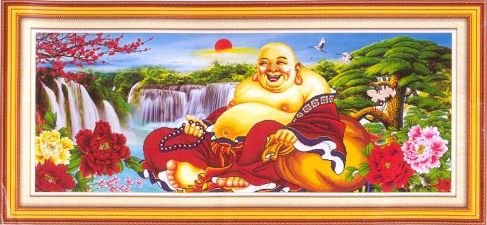 tranh thêu Phật Di Lặc tnc01