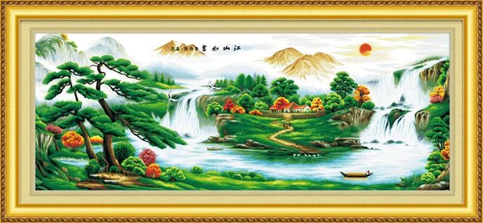Tranh thêu phong cảnh tnc09