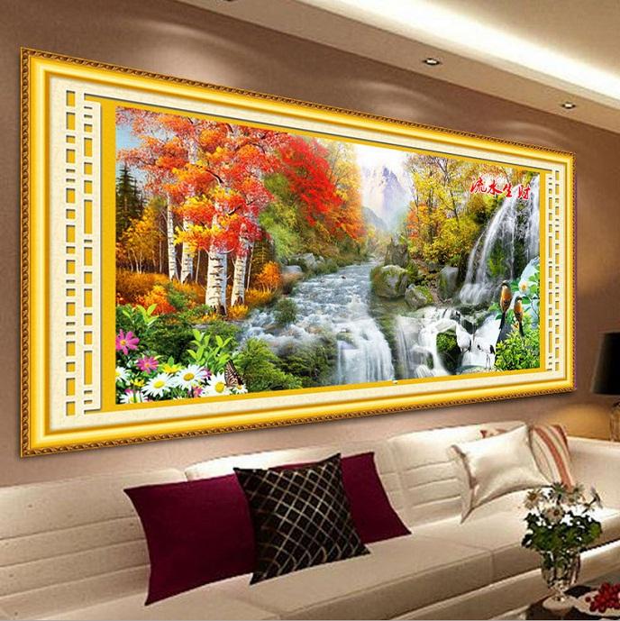 Tranh thêu phong cảnh tnc01