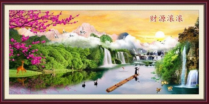Tranh thêu phong cảnh tnc08