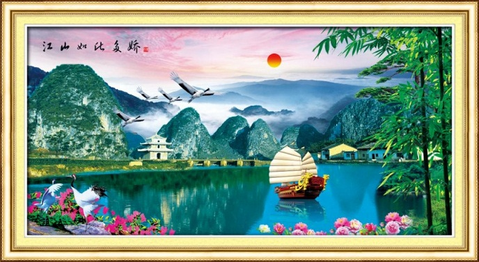 Tranh thêu phong cảnh tnc07