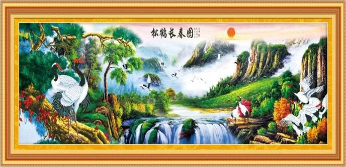 Tranh thêu phong cảnh tnc05