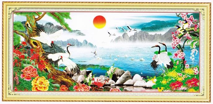 Tranh thêu phong cảnh tnc06
