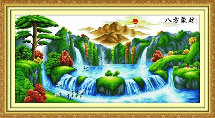 Tranh thêu phong cảnh tnc03