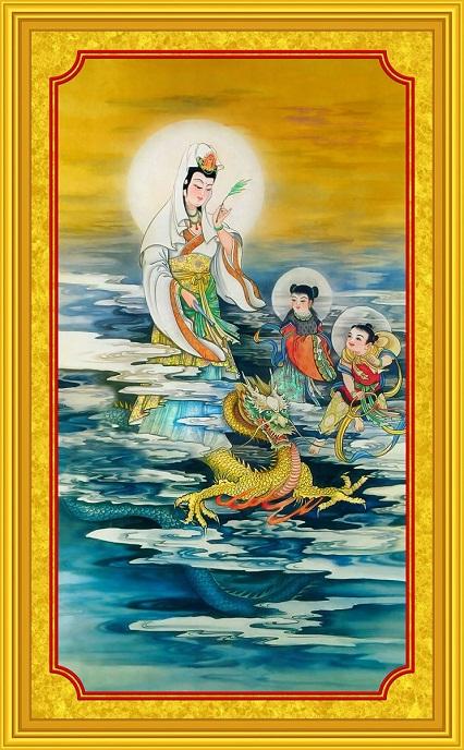 Tranh thêu Phật Bà Quan Thế Âm Bồ Tát tnc06