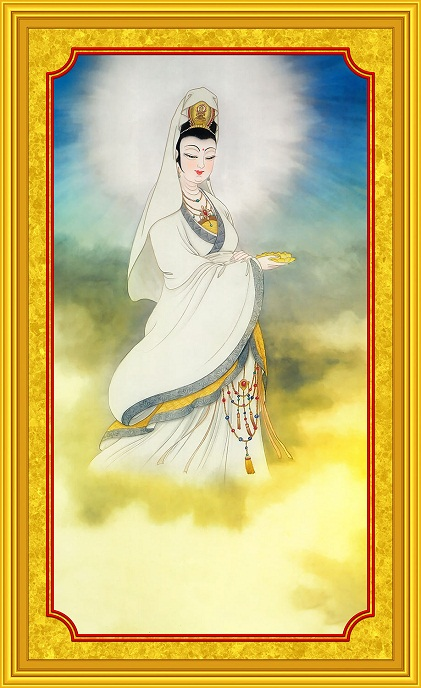 Tranh thêu Phật Bà Quan Thế Âm Bồ Tát tnc05