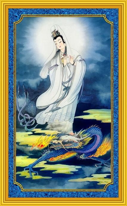 Tranh thêu Phật Bà Quan Thế Âm Bồ Tát tnc02