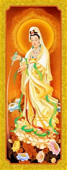 Tranh thêu Phật Bà Quan Thế Âm Bồ Tát tnc010