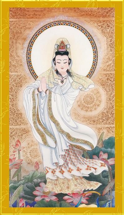 Tranh thêu Phật Bà Quan Thế Âm Bồ Tát tnc011