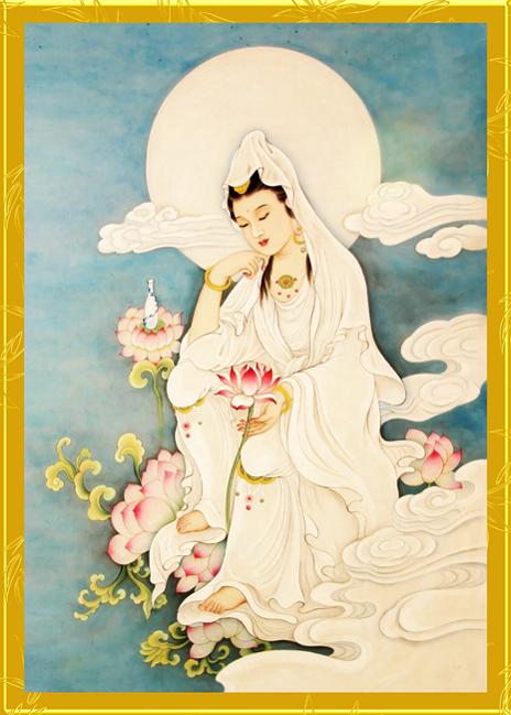 Tranh thêu Phật Bà Quan Thế Âm Bồ Tát tnc09