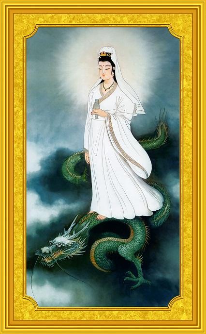Tranh thêu Phật Bà Quan Thế Âm Bồ Tát tnc03