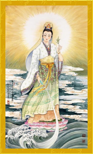 Tranh thêu Phật Bà Quan Thế Âm Bồ Tát tnc04