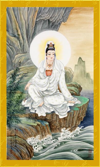Tranh thêu Phật Bà Quan Thế Âm Bồ Tát tnc07