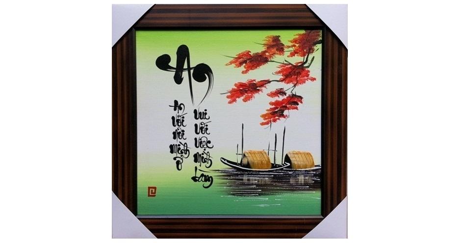 Nét văn hóa nghìn đời giấu mình trong bức Tranh Thêu Chữ An