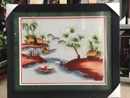 Tranh thêu đồng quê TNC0718
