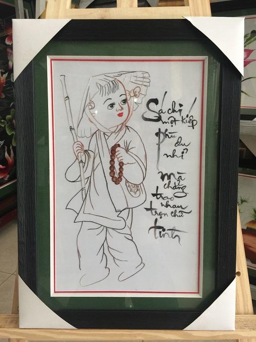 Tranh thêu Chú Tễu tnc0649