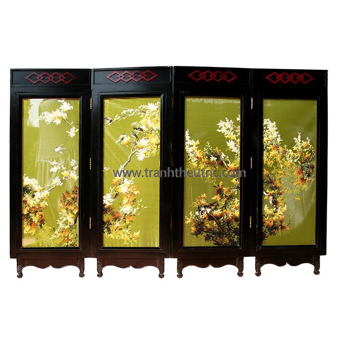 Tranh thêu Bình Phong tnc2901