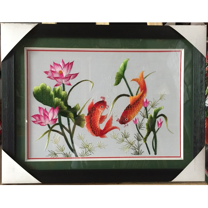 Tranh thêu Song ngư tnc0912