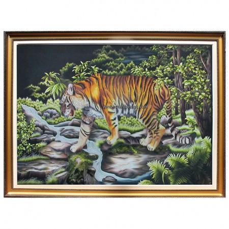 Tranh thêu con hổ tnc1110