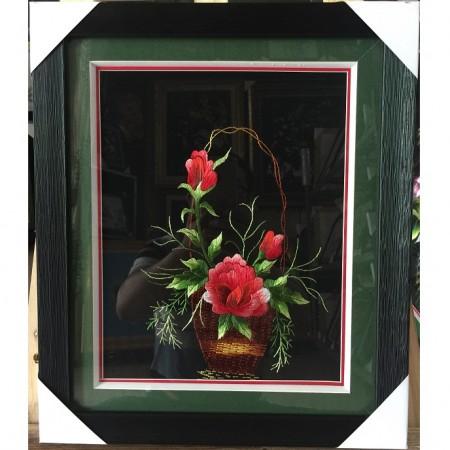 Tranh thêu hoa hồng tnc0652