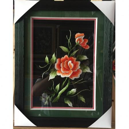 Tranh thêu hoa hồng tnc0653