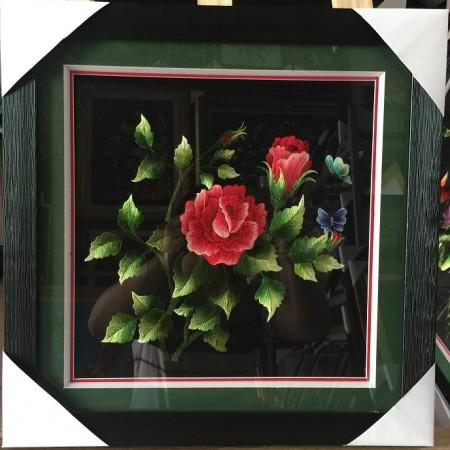 Tranh thêu hoa hồng tnc0655