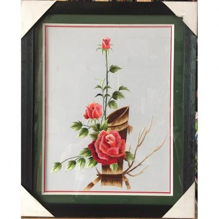 Tranh thêu hoa hồng tnc0656